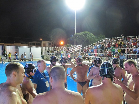 Deutschen Herren in der Halbzeit gegen Südafrika (Foto: T.Stanschus)