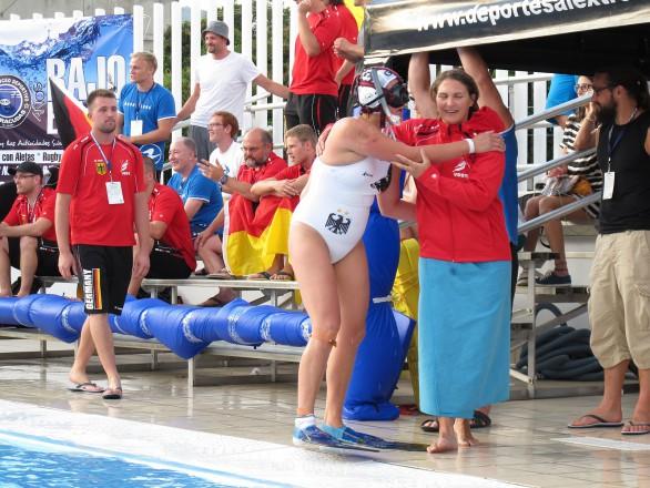 Regina Pavlovic scored gegen Kolumbien im Strafwurf das entscheidende 1-0 (Foto: C.Staubach)